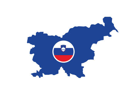 Slovenia map flag vector illustration