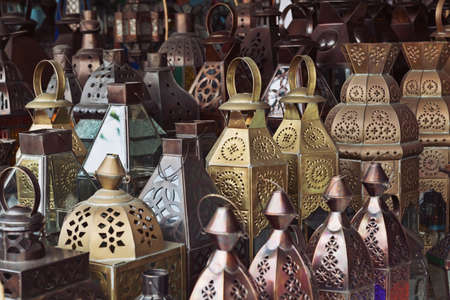 Traditional glass and metal lamps in the shopTraditional glass and metal lamps