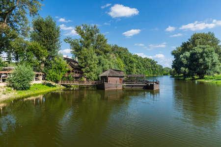 watermill: Watermill on boat in Slovakia city Kolarovo.
