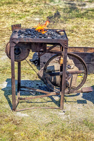 forge: Blacksmith forge used in medieval era .
