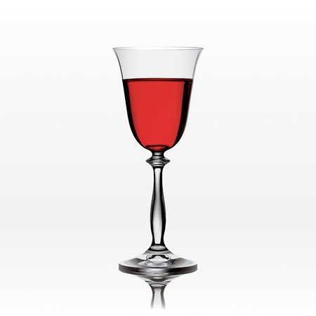 grail: Crystal goblet of red wine