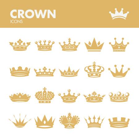cappelli: Corona. Icons set nel vettore