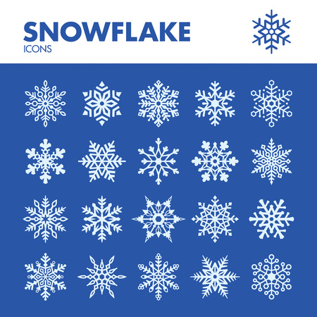 Snowflake. Icons set in vector