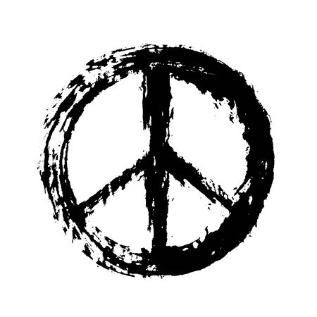 war paint: Peace sign Vectores
