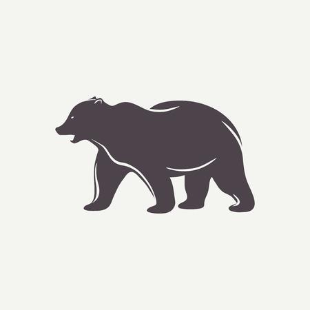 preto: Símbolo preto urso Ilustração