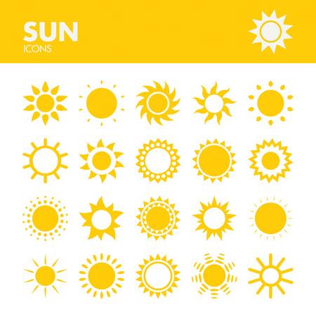 日アイコン ベクトルのセット
