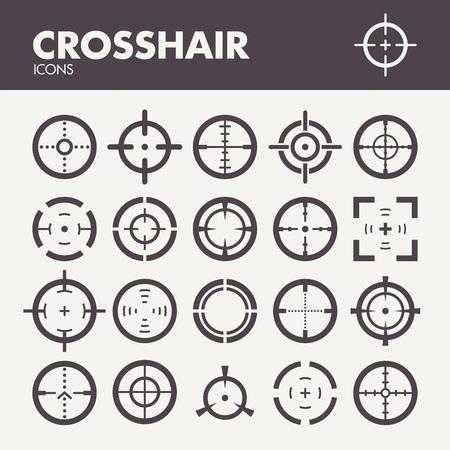 Crosshair. Icons set dans le vecteur Banque d'images - 48267095