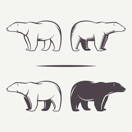 símbolos del oso Ilustración de vector