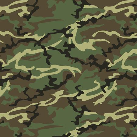 Camouflage seamless pattern in khaki green. Woodland style vector texture 免版税图像 - 52480605