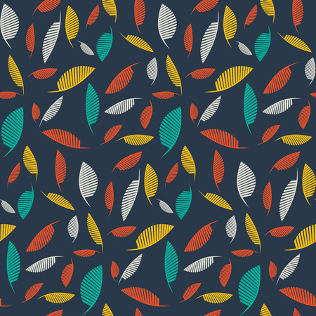 Falling leaves. Vector seamless pattern