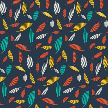 falling leaves: Falling leaves. Vector seamless pattern
