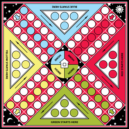 turn table: Ludo board game