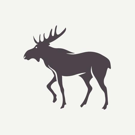 Moose symbol. 矢量图像
