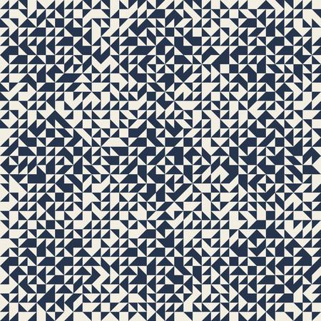 Triangle mosaic seamless pattern. Geometric abstract background