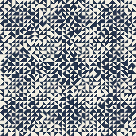 Triangle mosaic seamless pattern. Geometric abstract background