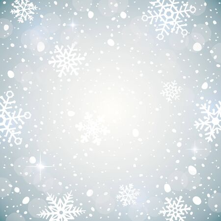 Winter background with snowflakes. Decorative Christmas background. illustration of falling snow