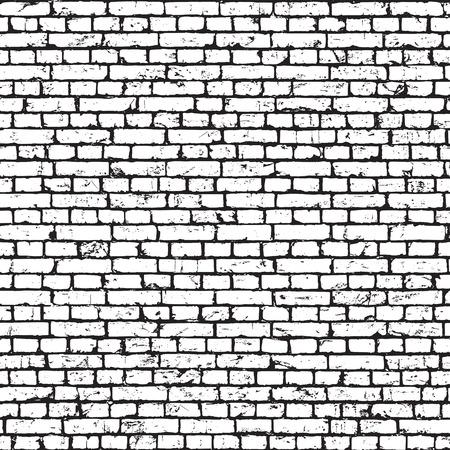 White brick wall texture, grunge background. seamless pattern. 矢量图像