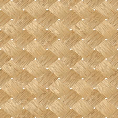 bamboo mat: Bamboo wood texture. Wicker background. Vector seamless pattern