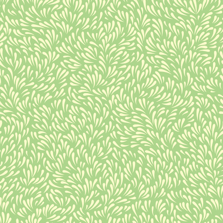 Abstract background with wavy grass or leaves. Seamless floral pattern
