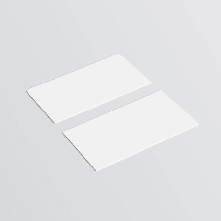 Blank business cards mockup. Vector template for branding identity  イラスト・ベクター素材