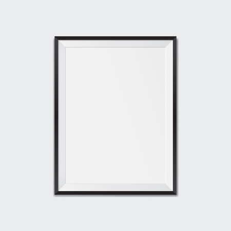 Blank black frame.  Realistic vector illustration 向量圖像