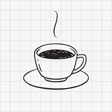 Tea or coffee cup doodle icon. Hand drawn line sketch in vector Foto de archivo - 106579652