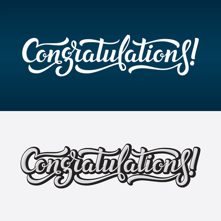 Congratulations lettering vector text Ilustracja