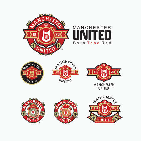 premier league: Manchester United Logo Born Tobe Red vers 0.3