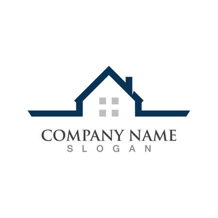 Property and Construction Vector design, real estate logo template