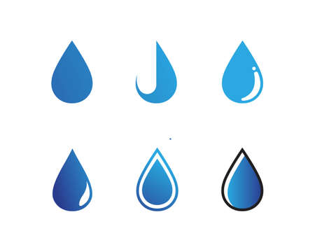 water drop Logo Template vector illustration design Logo
