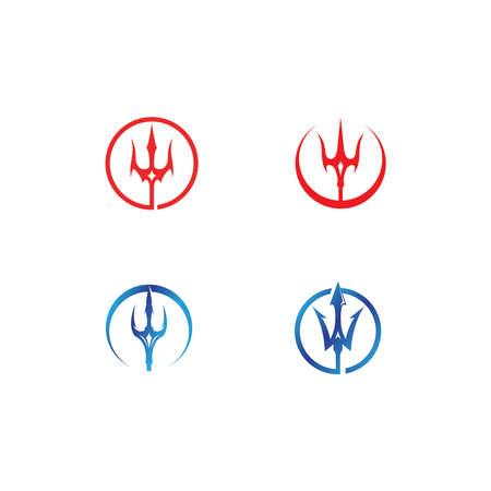 Magic Trident Logo illustration Logó