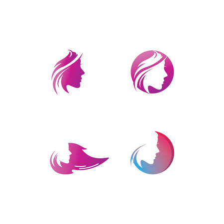 Beauty Fashion Spa Logo circle design vector