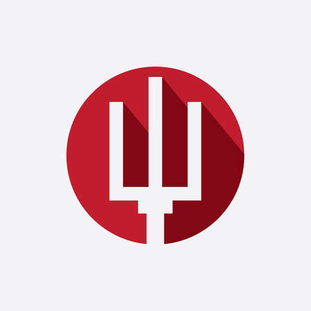 Red Trident logo icon design template ЛОГОТИПЫ