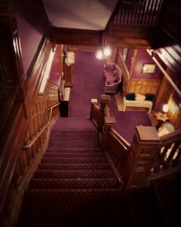 Dark purple staircase