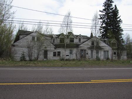 Abandoned house near the lake