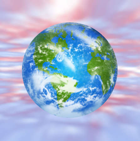 earth globe on abstract background photo