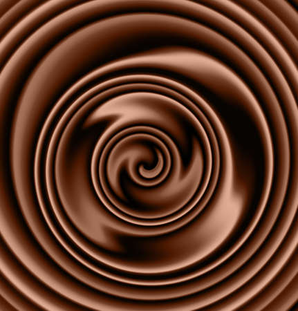 indulgence: creamy chocolate swirl Stock Photo