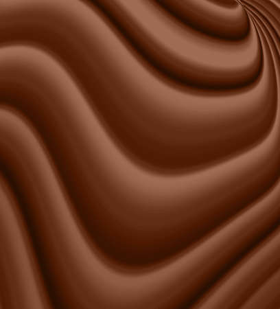 indulgence: chocolate wavy background Stock Photo
