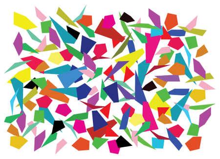 splinters: vector background of color splinters