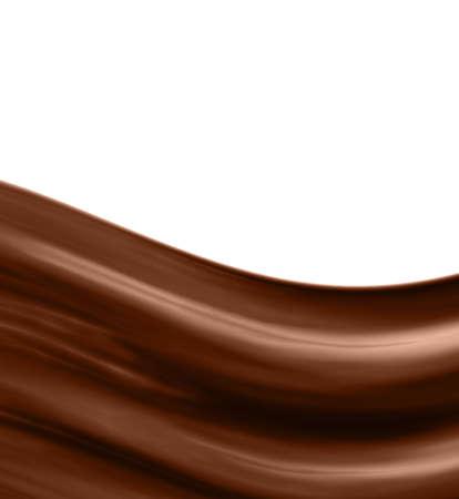 glossy chocolate waves photo