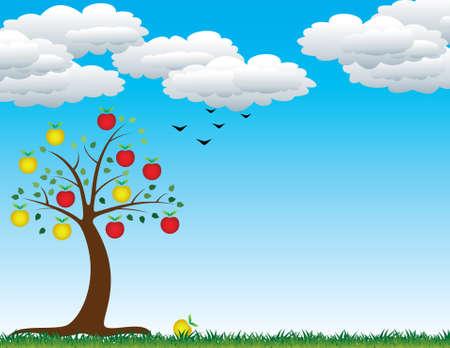vector apple tree Stock Vector - 5381564