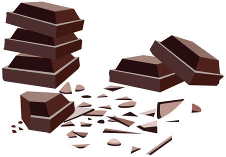 vector chocolate bars with crumbs Vector