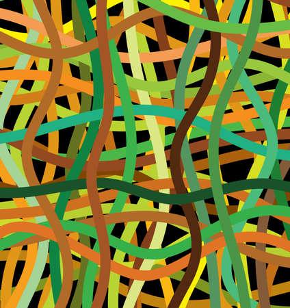 linee vettoriali: linee vettoriali di diversi colori Vettoriali