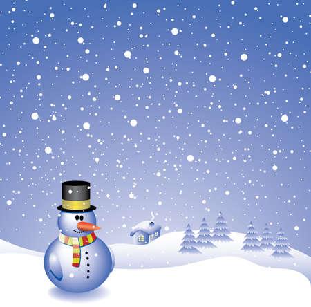 vector design with snowman  Stock Vector - 5693088