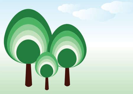vector tree family Vector