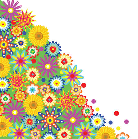 vector floral background with free space Vector