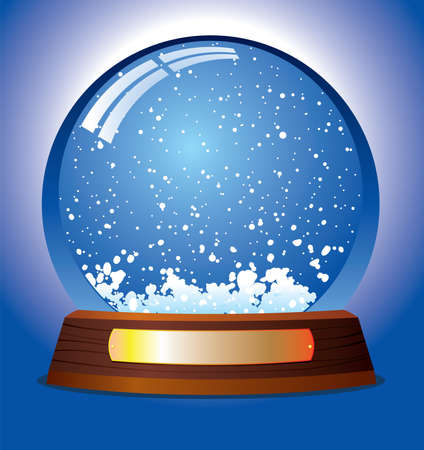 inserting: vector snow globe - customize by inserting your own object