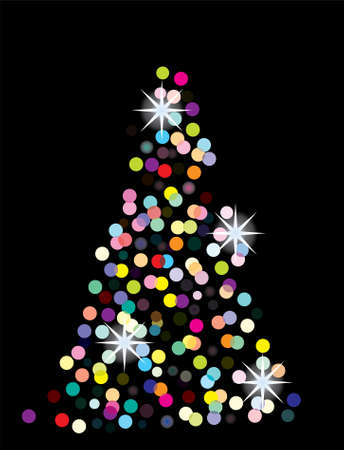 holiday background with glowing tree Vector