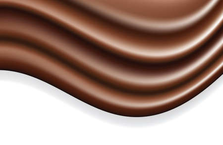 chocolate wave abstract background Stock Vector - 5978604