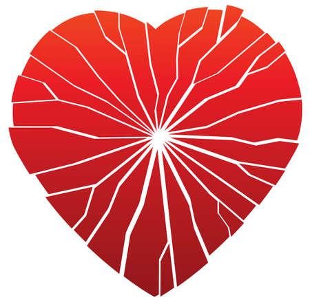 heartbreaking: illustration of vector broken heart